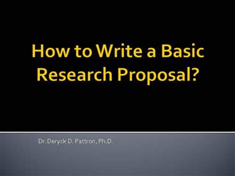 Explain the contents of research proposal